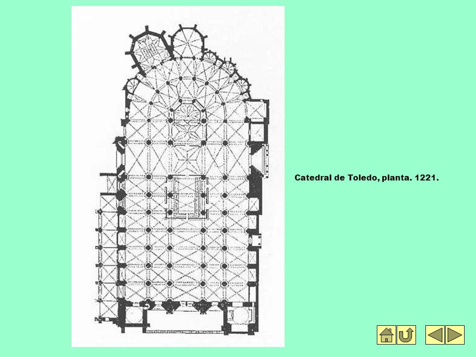 Catedral de Toledo, planta. 1221.