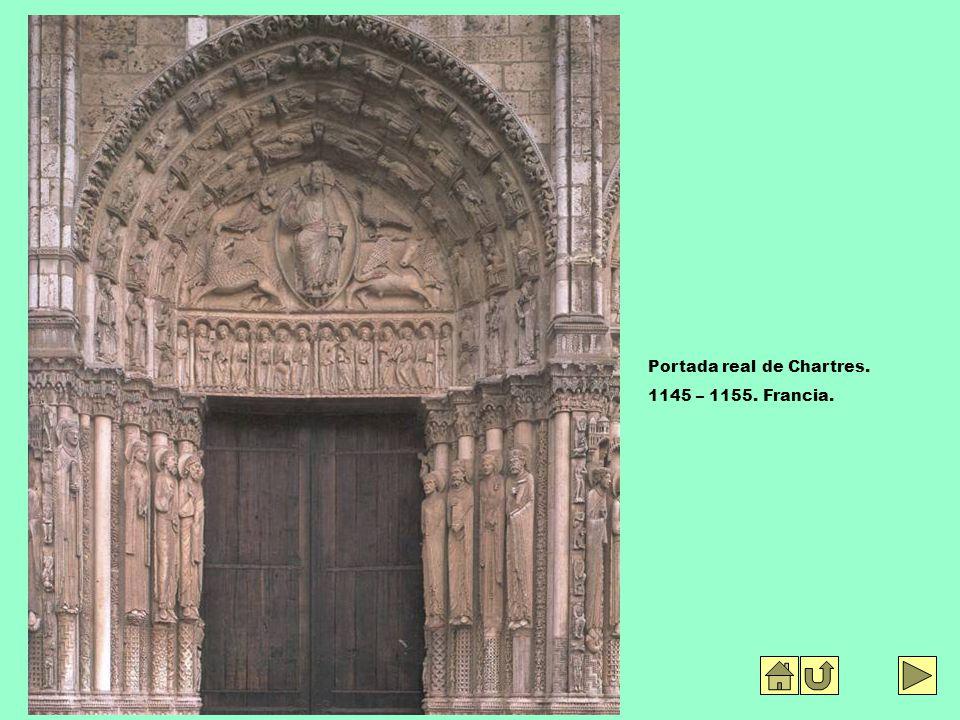 Portada real de Chartres. 1145 – 1155. Francia.