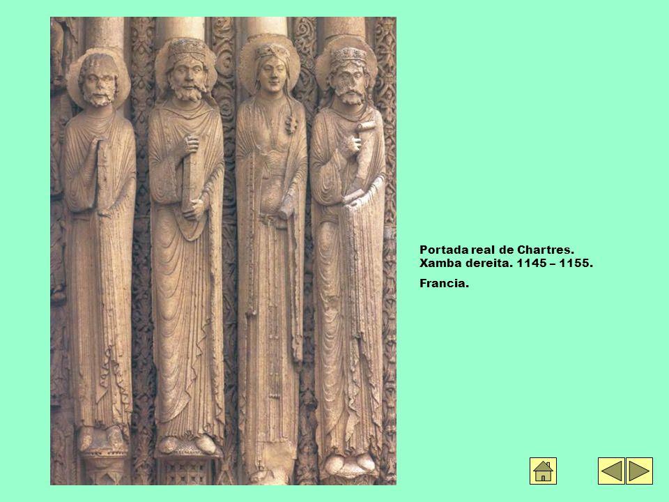 Portada real de Chartres. Xamba dereita. 1145 – 1155. Francia.