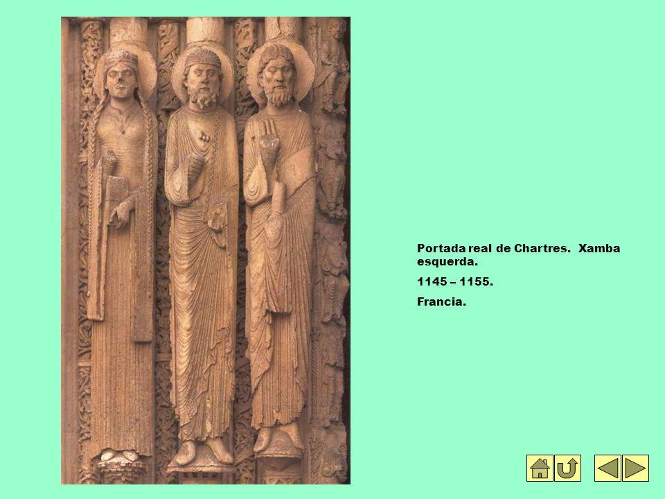 Portada real de Chartres. Xamba esquerda. 1145 – 1155. Francia.