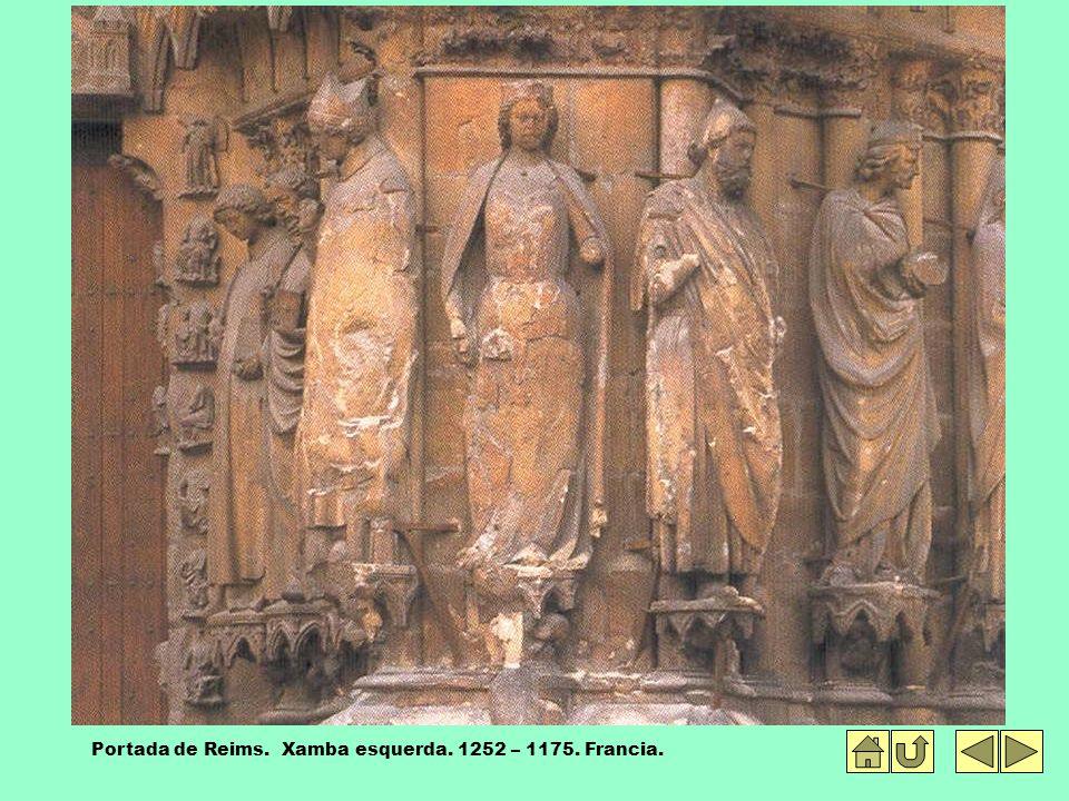 Portada de Reims. Xamba esquerda. 1252 – 1175. Francia.