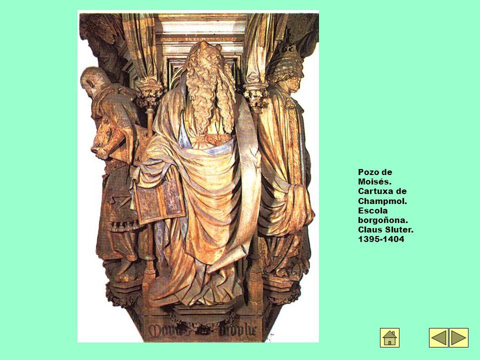 Pozo de Moisés. Cartuxa de Champmol. Escola borgoñona. Claus Sluter. 1395-1404