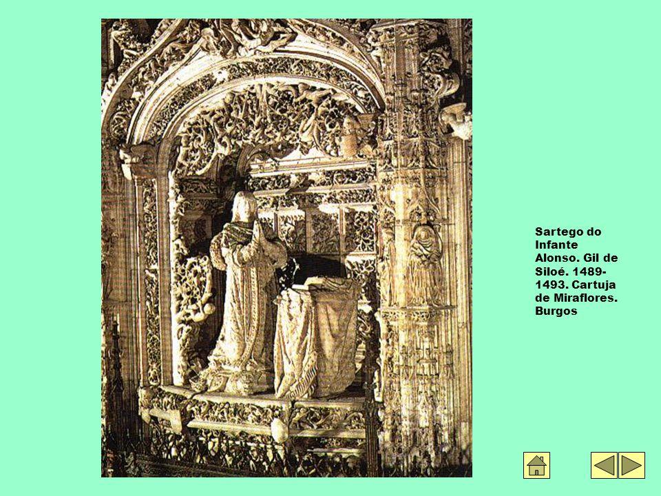 Sartego do Infante Alonso. Gil de Siloé. 1489- 1493. Cartuja de Miraflores. Burgos