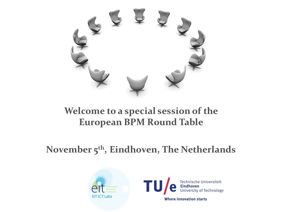 / name of department PAGE 020-4-2015 Welcome to a special session of the European BPM Round Table November 5 th, Eindhoven, The Netherlands