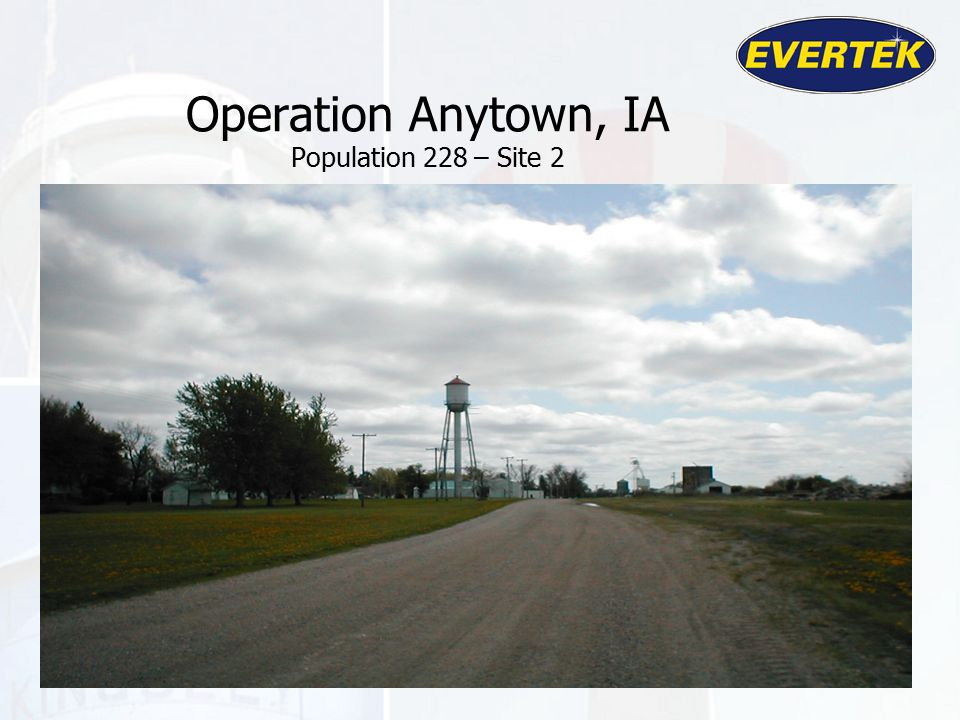 Operation Anytown, IA Population 228 – Site 2