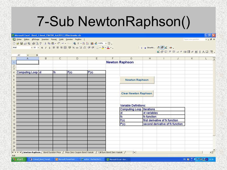 7-Sub NewtonRaphson()