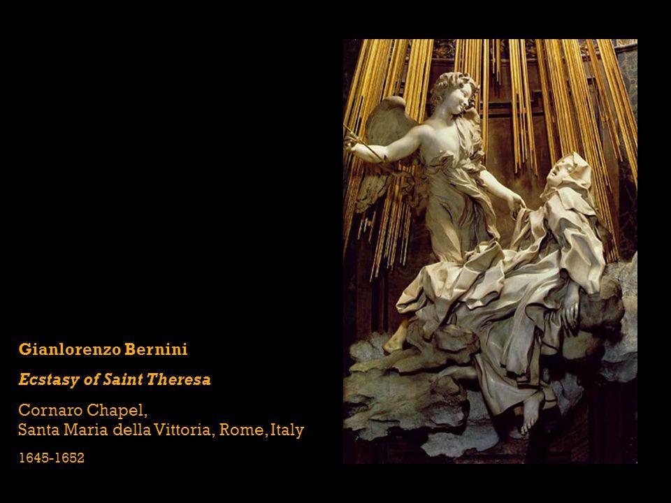 Gianlorenzo Bernini Ecstasy of Saint Theresa Cornaro Chapel, Santa Maria della Vittoria, Rome, Italy 1645-1652