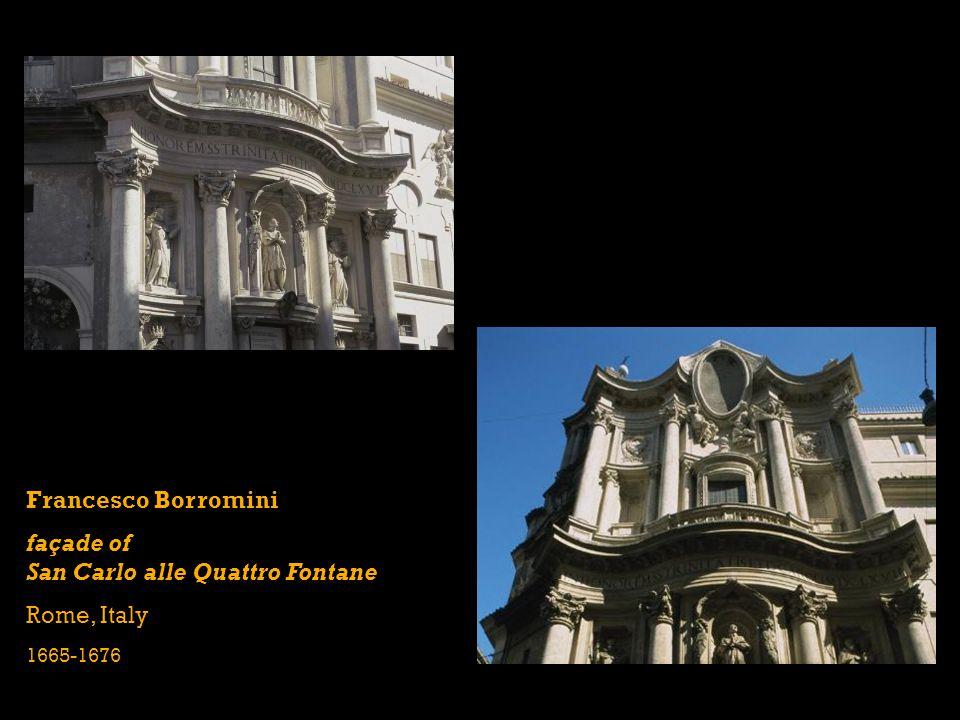 Francesco Borromini façade of San Carlo alle Quattro Fontane Rome, Italy 1665-1676
