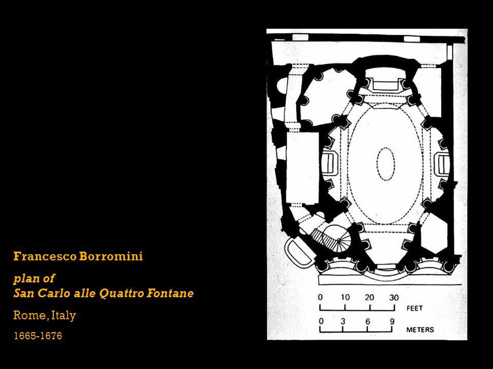 Francesco Borromini plan of San Carlo alle Quattro Fontane Rome, Italy 1665-1676