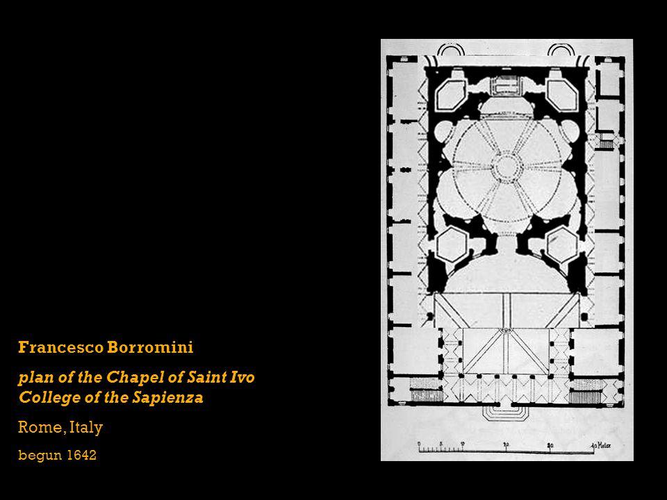 Francesco Borromini plan of the Chapel of Saint Ivo College of the Sapienza Rome, Italy begun 1642