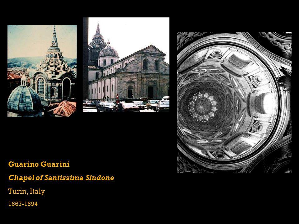 Guarino Guarini Chapel of Santissima Sindone Turin, Italy 1667-1694