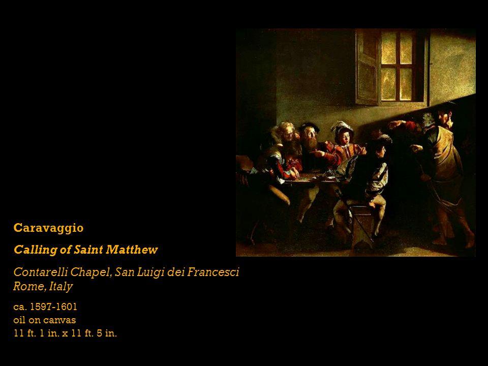 Caravaggio Calling of Saint Matthew Contarelli Chapel, San Luigi dei Francesci Rome, Italy ca.