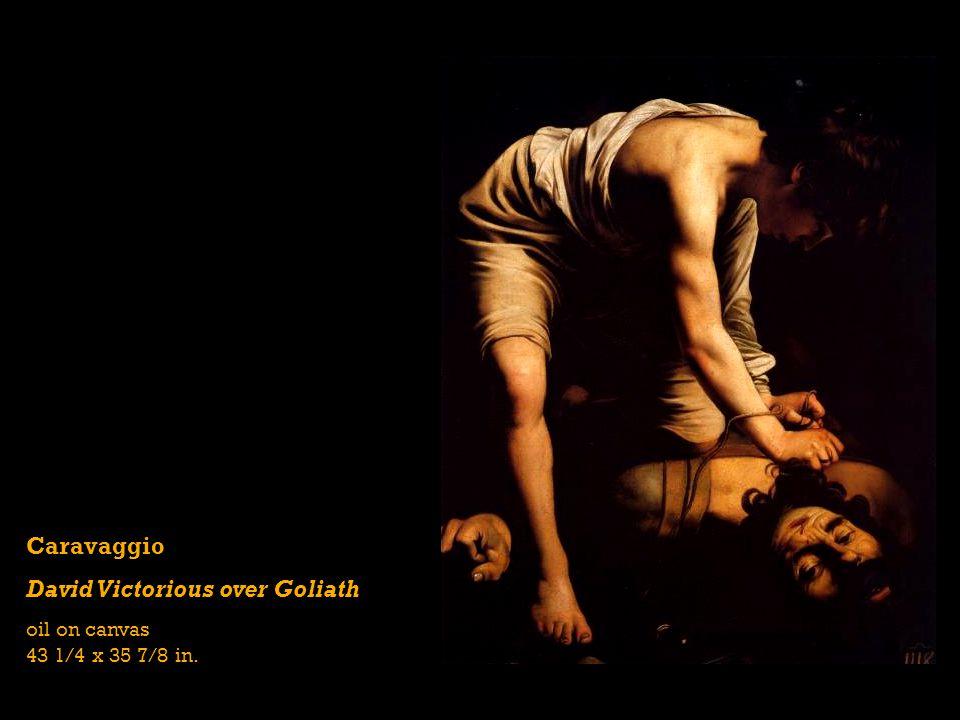 Caravaggio David Victorious over Goliath oil on canvas 43 1/4 x 35 7/8 in.