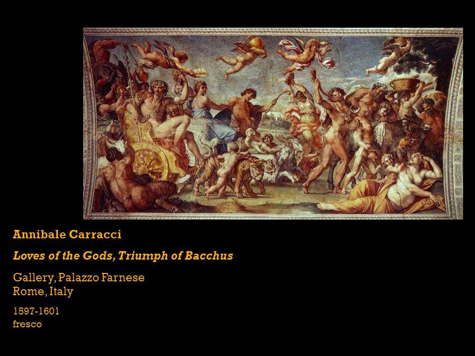 Annibale Carracci Loves of the Gods, Triumph of Bacchus Gallery, Palazzo Farnese Rome, Italy 1597-1601 fresco