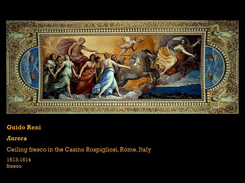 Guido Reni Aurora Ceiling fresco in the Casino Rospigliosi, Rome, Italy 1613-1614 fresco