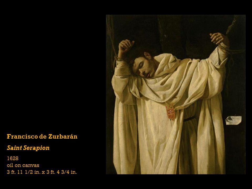 Francisco de Zurbarán Saint Serapion 1628 oil on canvas 3 ft. 11 1/2 in. x 3 ft. 4 3/4 in.