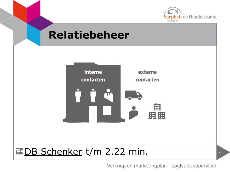 2 Relatiebeheer DB SchenkerDB Schenker t/m 2.22 min.