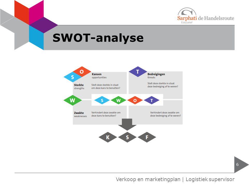 SWOT-analyse 6 Verkoop en marketingplan | Logistiek supervisor