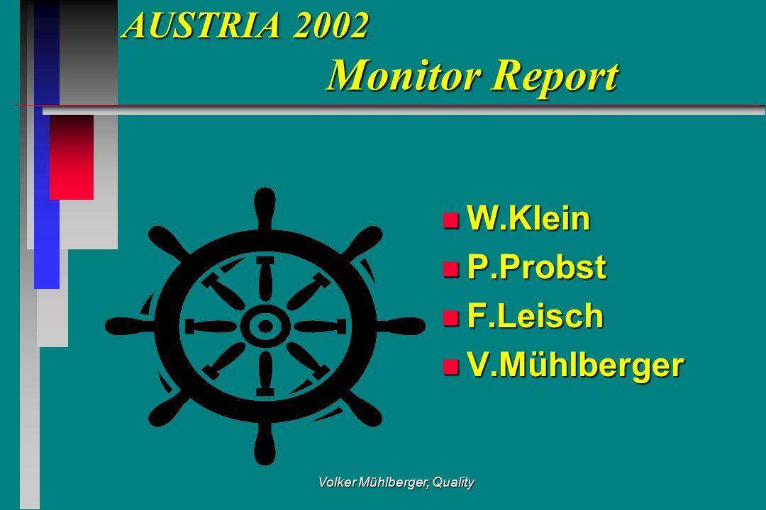 Volker Mühlberger, Quality AUSTRIA 2002 Monitor Report n W.Klein n P.Probst n F.Leisch n V.Mühlberger
