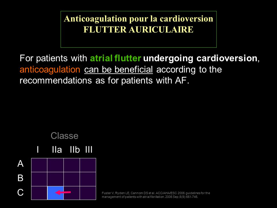 For patients with atrial flutter undergoing cardioversion, anticoagulation can be beneficial according to the recommendations as for patients with AF.