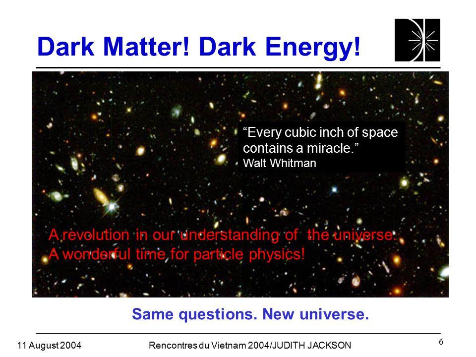 11 August 2004Rencontres du Vietnam 2004/JUDITH JACKSON 6 Dark Matter.