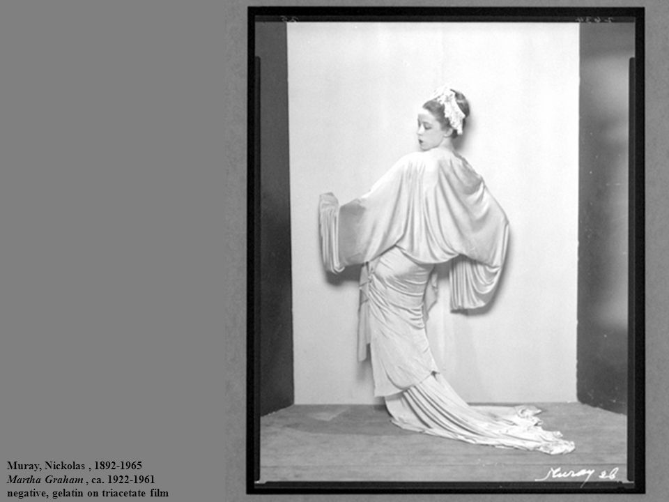Muray, Nickolas, 1892-1965 Martha Graham, ca. 1922-1961 negative, gelatin on triacetate film