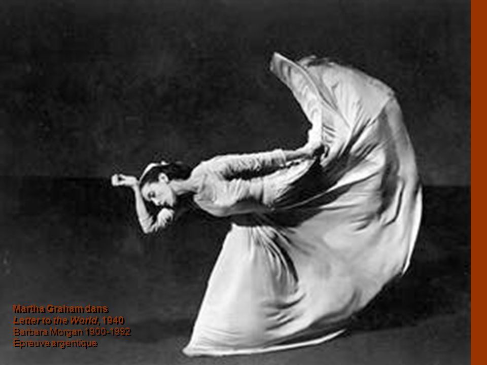 Martha Graham dans Letter to the World, 1940 Barbara Morgan 1900-1992 Épreuve argentique Martha Graham dans Letter to the World, 1940 Barbara Morgan 1900-1992 Épreuve argentique