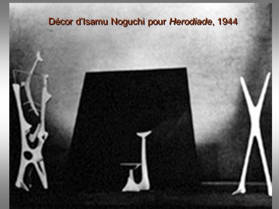 Décor d'Isamu Noguchi pour Herodiade, 1944
