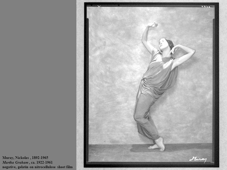 Muray, Nickolas, 1892-1965 Martha Graham, ca. 1922-1961 negative, gelatin on nitrocellulose sheet film