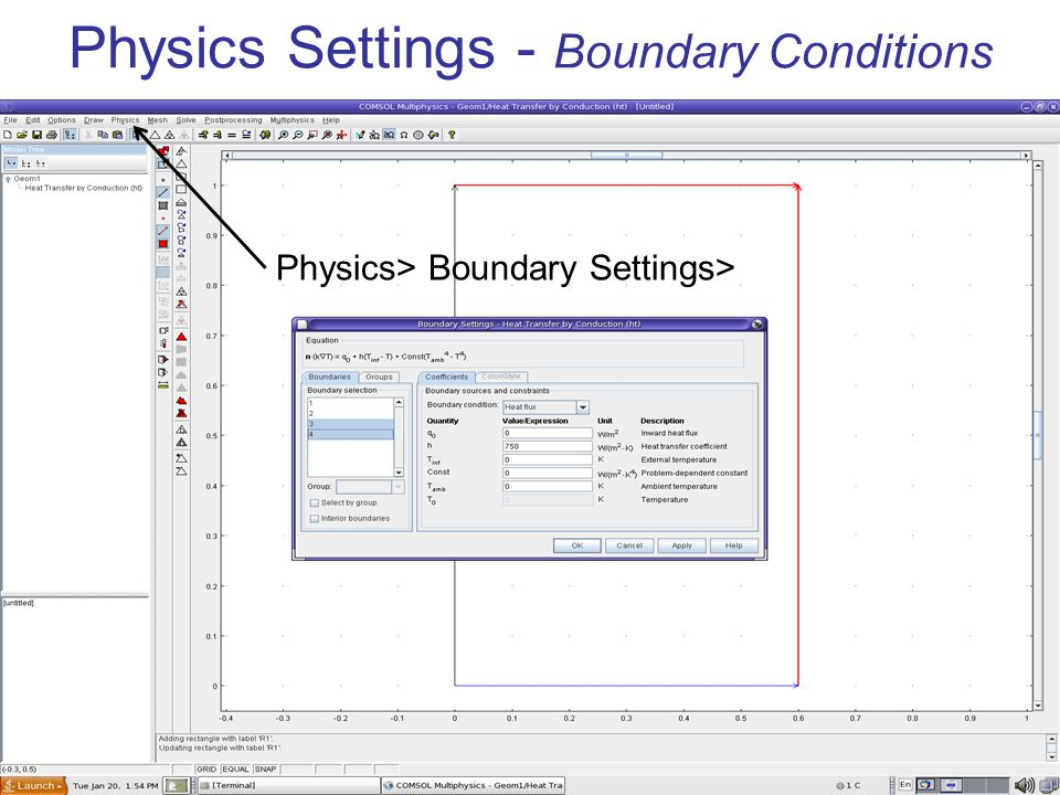 Physics Settings - Boundary Conditions Physics> Boundary Settings>