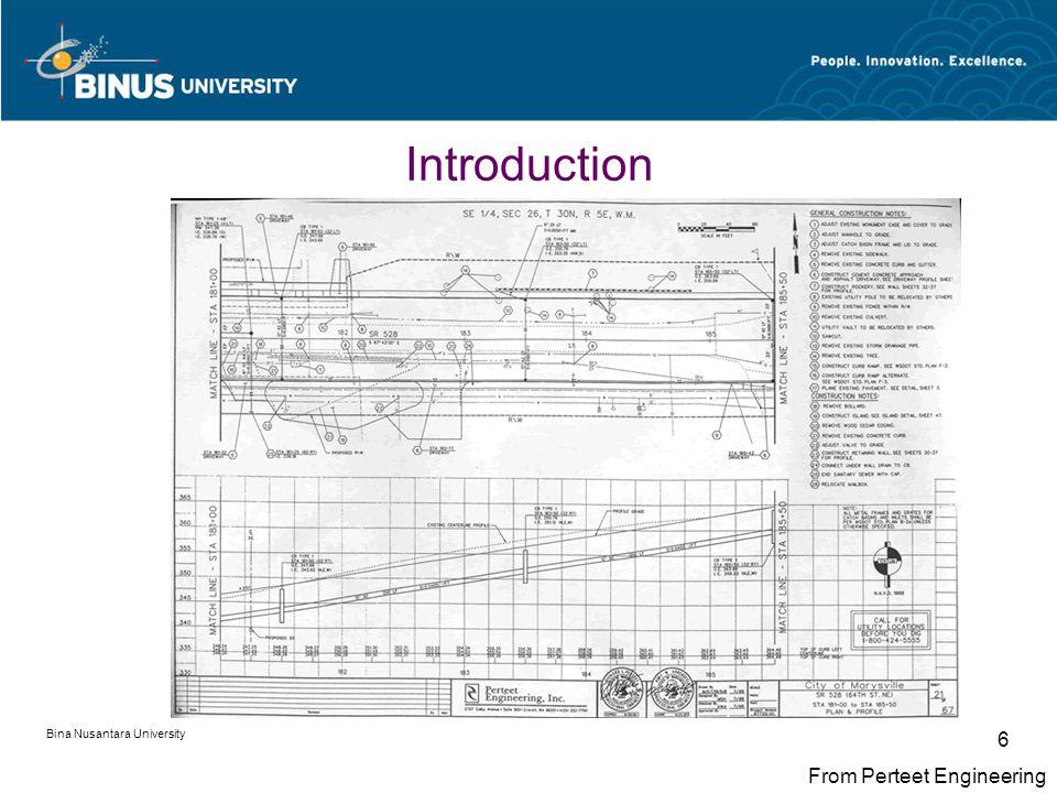 Bina Nusantara University 6 From Perteet Engineering Introduction