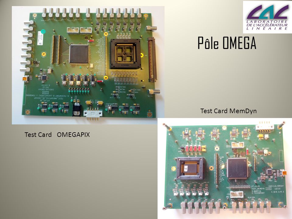 Test Card OMEGAPIX Test Card MemDyn Pôle OMEGA