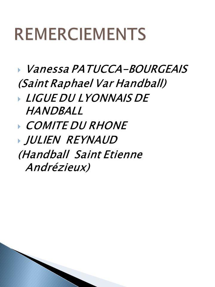  Vanessa PATUCCA-BOURGEAIS (Saint Raphael Var Handball)  LIGUE DU LYONNAIS DE HANDBALL  COMITE DU RHONE  JULIEN REYNAUD (Handball Saint Etienne Andrézieux)