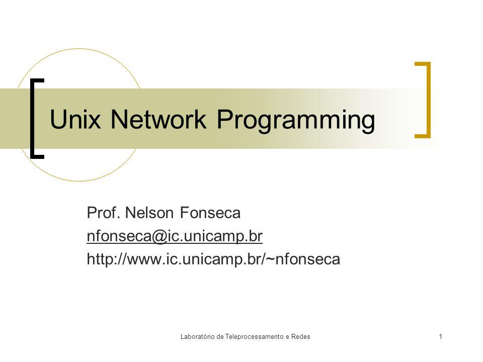 Laboratório de Teleprocessamento e Redes1 Unix Network Programming Prof.