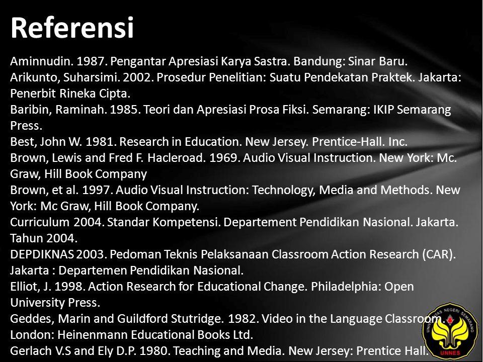 Referensi Aminnudin. 1987. Pengantar Apresiasi Karya Sastra.