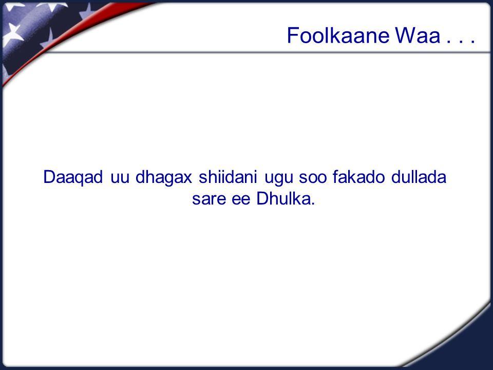 Foolkaane Waa... Daaqad uu dhagax shiidani ugu soo fakado dullada sare ee Dhulka.