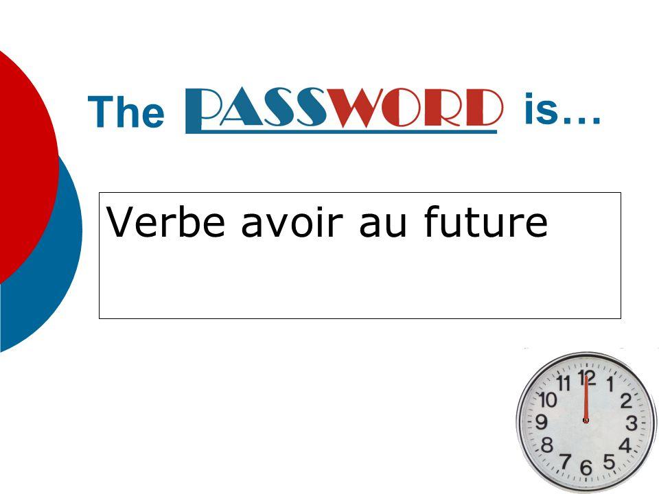 Verbe être au future The is…