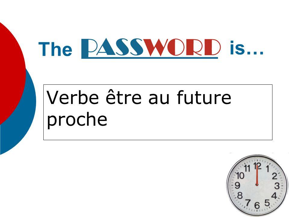 Verbe avoir au future The is…