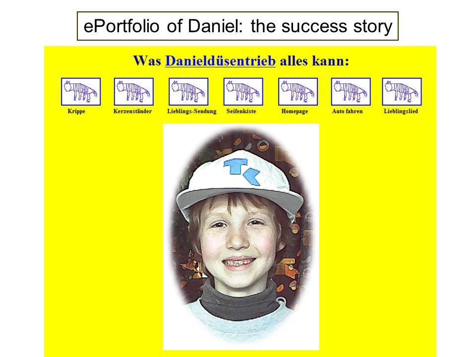 ePortfolio of Daniel: the success story