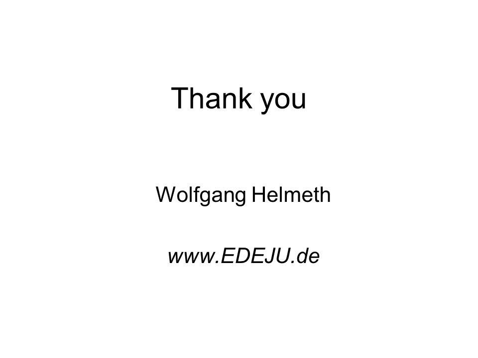 Thank you Wolfgang Helmeth www.EDEJU.de