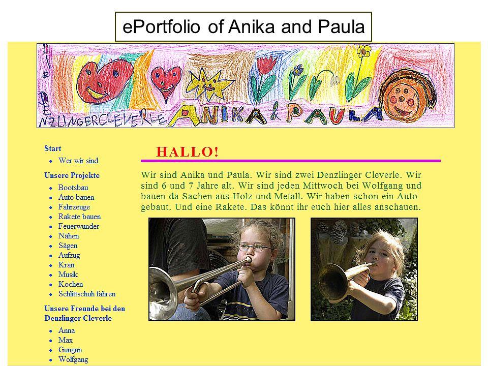 ePortfolio of Anika and Paula