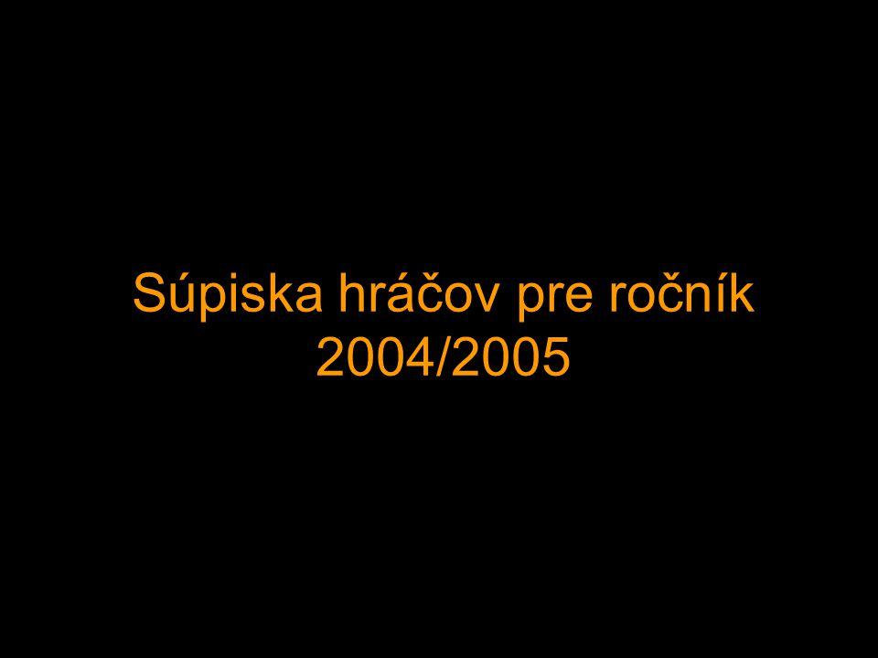 Súpiska hráčov pre ročník 2004/2005