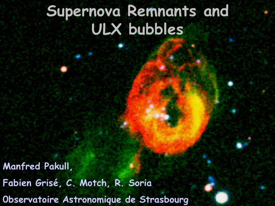 Outline -- Ultraluminous X-ray sources (ULXs) -- ULXs are (often) located in bubbles = ULXBs -- many (large) SNRs are really ULXBs -- Rosetta Stone S26 in NGC 7793 -- ULXBs = jet inflated « beambags » like SS433/W50