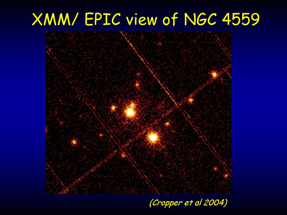 (Cropper et al 2004) XMM/ EPIC view of NGC 4559