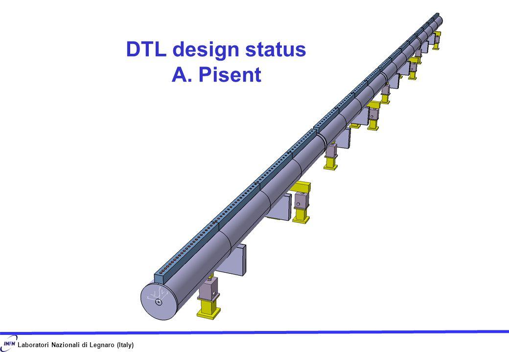 Laboratori Nazionali di Legnaro (Italy) DTL design status A. Pisent
