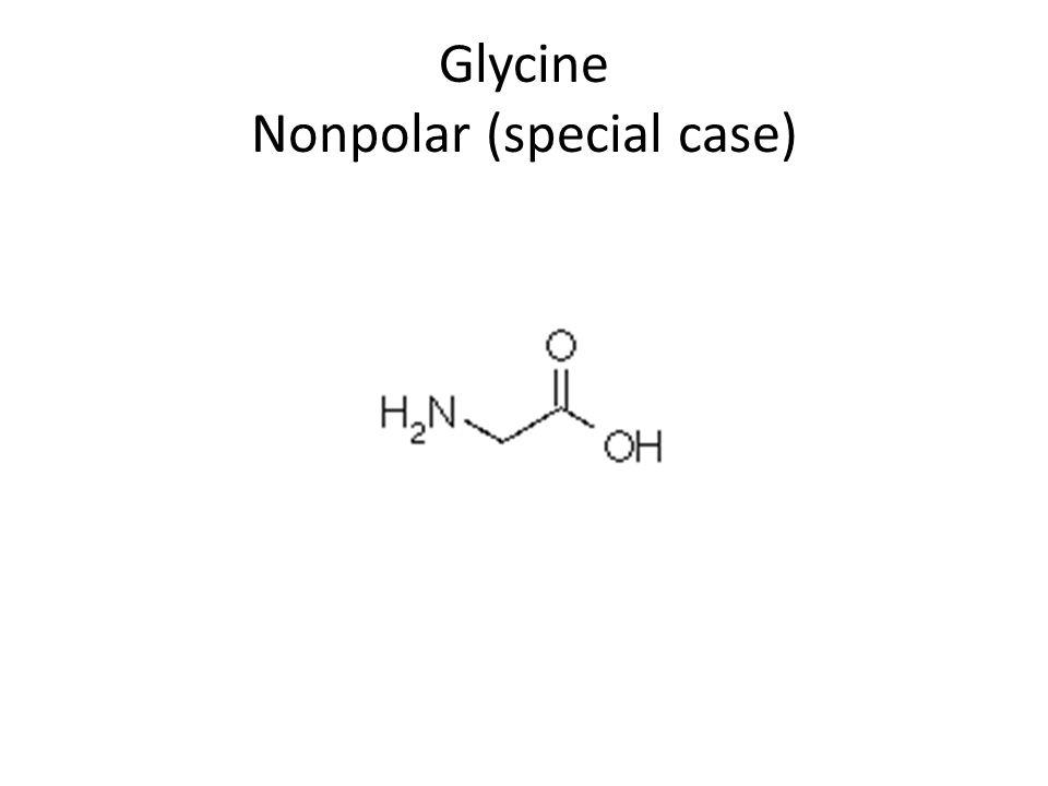 Glycine Nonpolar (special case)