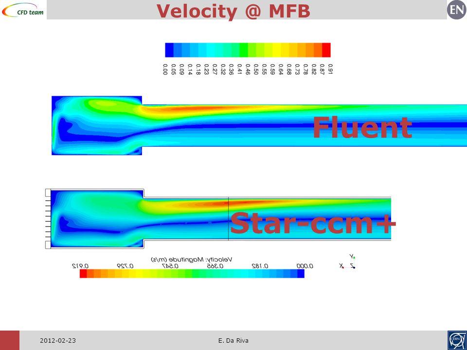 2012-02-23E. Da Riva Velocity @ MFB Fluent Star-ccm+