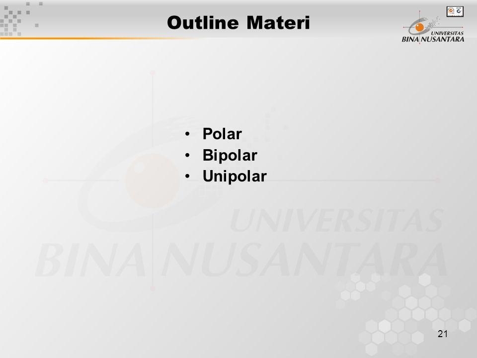 21 Outline Materi Polar Bipolar Unipolar