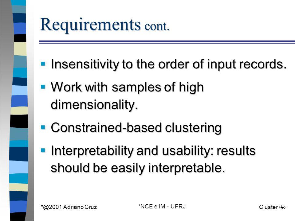 *@2001 Adriano Cruz *NCE e IM - UFRJ Cluster 28 Data chart