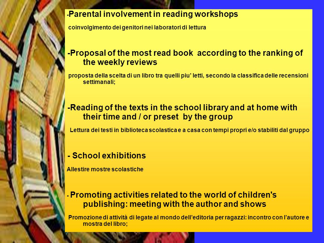 -Participating literary events and book fairs.